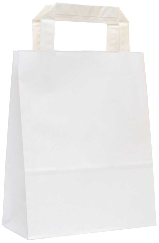 80bc1f7b5 Biele papierové tašky, ploché papierové ucho | Ploché ucho | Mojataska