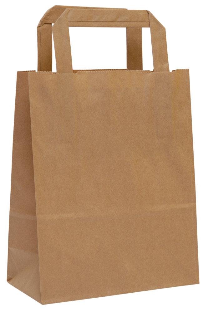fd26df2f9 Hnedé papierové tašky, ploché papierové ucho | Ploché ucho | Mojataska